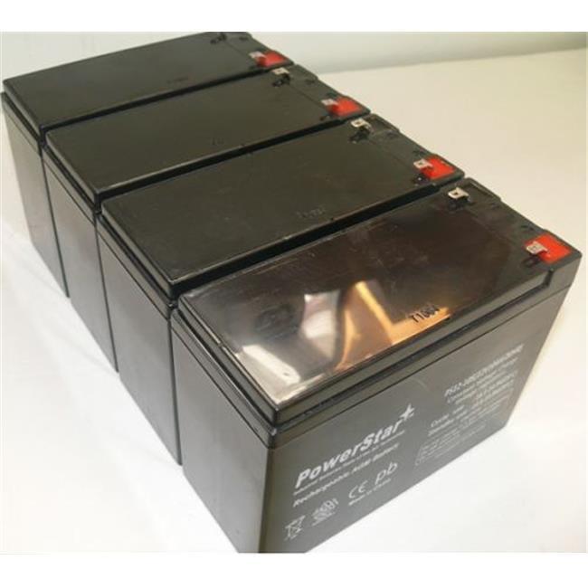 PowerStar PS12-10-4Pack 12V, 10Ah AGM FRESH Battery For 48V Electric Motor E-Bike Bicycle