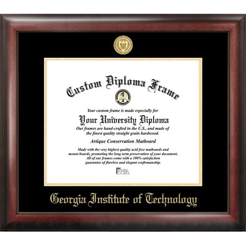 """Georgia Institute of Technology 14"""" x 17"""" Gold Embossed Diploma Frame"""