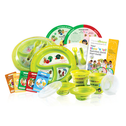 Precise Portions Show 'N Tell Spanish Know-It-All Complete Nutrition 6 Piece Dinnerware Set