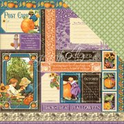 """Children's Hour Double-Sided Cardstock 12""""X12""""-October Collective"""