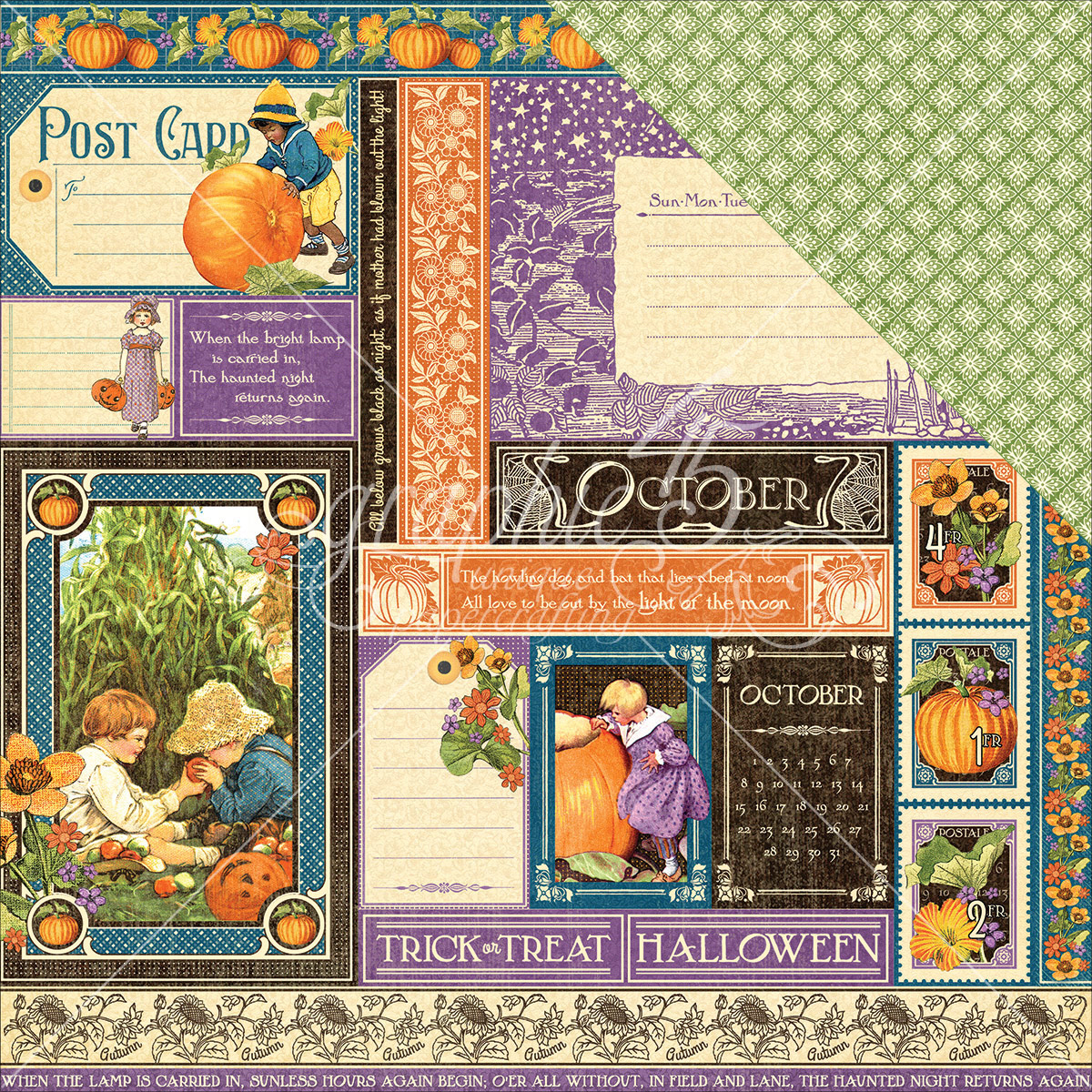 "Children's Hour Double-Sided Cardstock 12""X12""-October Collective"