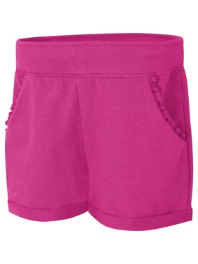 Girls' French Terry Ruffle Pocket Short