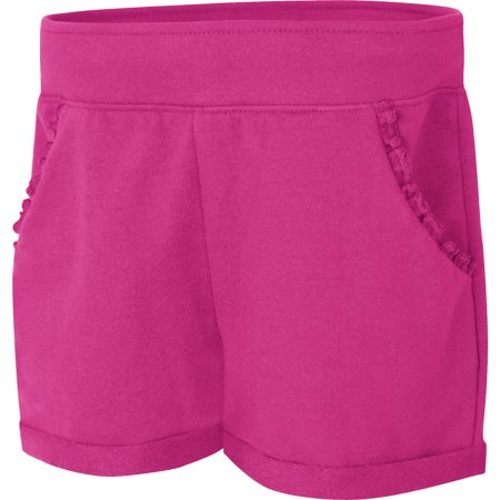 Black Ruffle Shorts (Hanes Girls' Ruffle Pocket Short(Little Girls & Big)