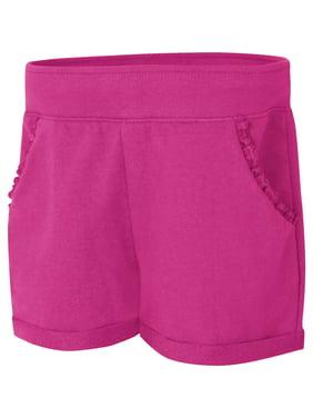 Hanes Girls' Ruffle Pocket Short(Little Girls & Big Girls)