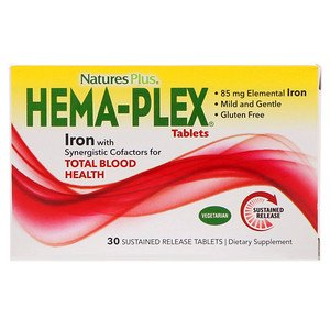 Sustained Release 30 Tablets (Nature's Plus, Hema-Plex, 30 Sustained Release Tablets (Pack of 1))