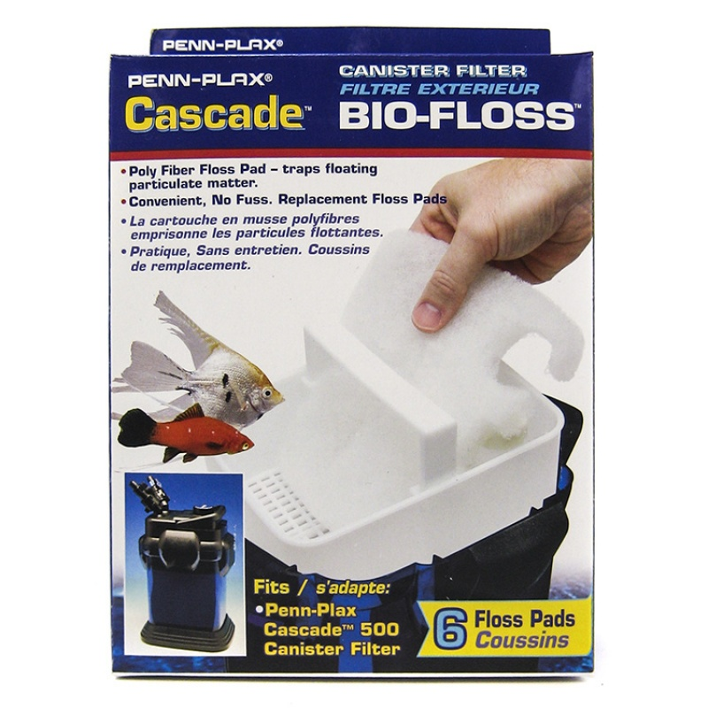 Cascade Canister Filter Bio-Floss Replacement Pads Cascade 500 Pads - 6 Pack