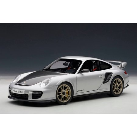 Porsche 911 (997) GT2 RS Silver 1/18 Diecast Car Model by Autoart