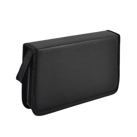 Home Car Faux Leather 80 Capacity VCD DVD CD Carry Case Wallet Bag Holder