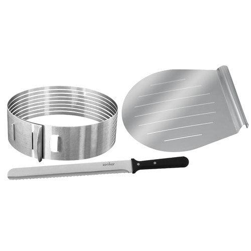 Frieling Zenker Bakeware by Frieling 3 Piece Layer Cake Slicing Kit Set