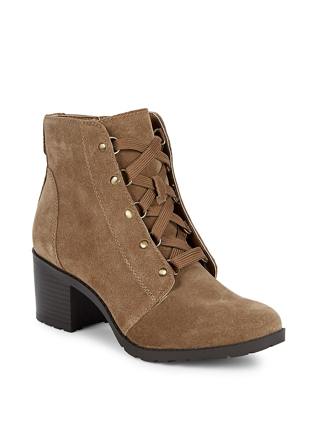 Kimbree Lace-Up Leather Boots
