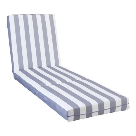 Better Homes and Gardens Cabana Stripe Chaise Lounge Cushion - Grey ()