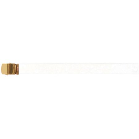 fox outdoor 45-16 white 54 in. cotton with belt, brass plated -