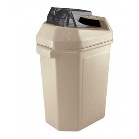 Commercial Zone  Can Pactor Can Crusher and Waste Container - Beige
