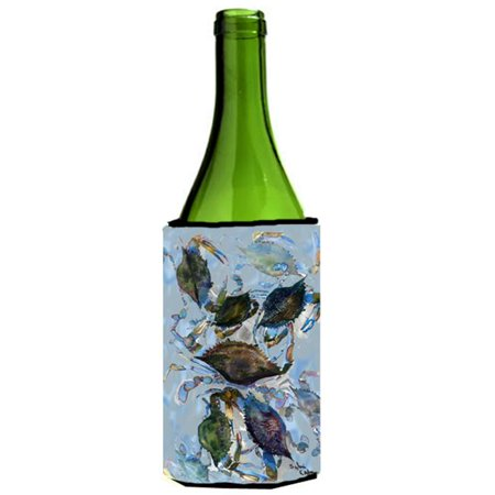 Blue Crab Cluster Wine bottle sleeve Hugger - 24 Oz. - image 1 de 1