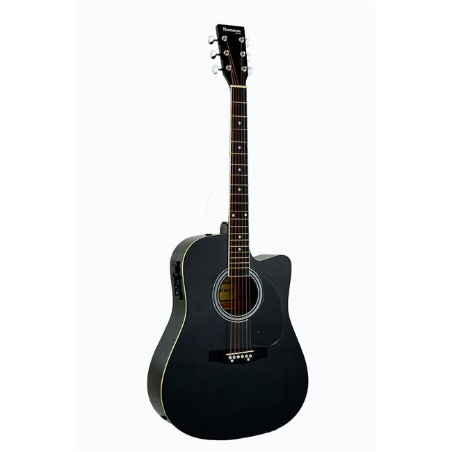 Bridgecraft USA GA415C-BK Huntington Dreadnought Cutaway Acoustic-Electric Guitar. Black by Guidecraft