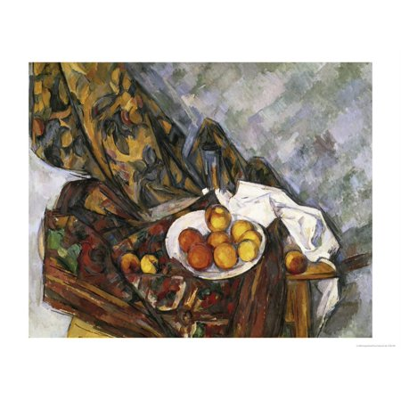 Nature Morte Au Rideau a Fleurs Print Wall Art By Paul - Nature Morte Fleurs