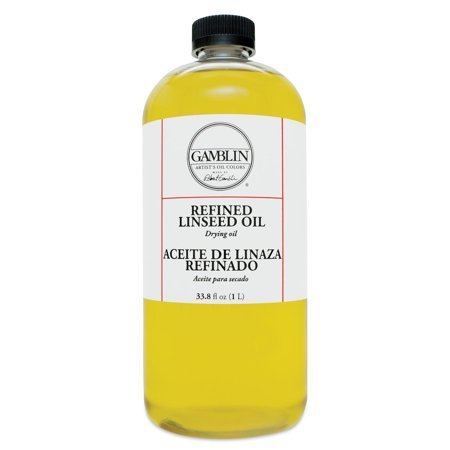 - Gamblin Refined Linseed Oil - 33.8 oz bottle