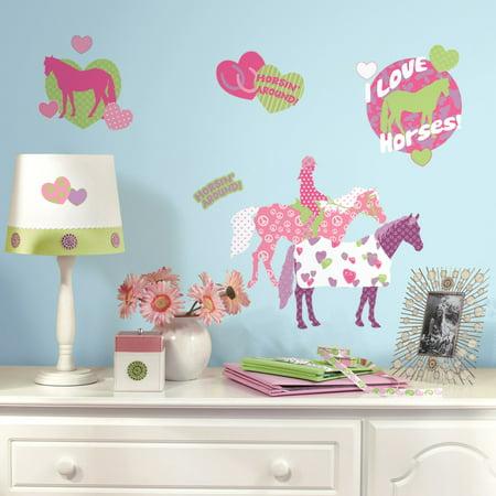 RoomMates Horse Crazy Peel & Stick Wall Decals