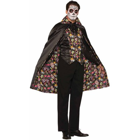 Day of the Dead Cape Adult Halloween Accessory