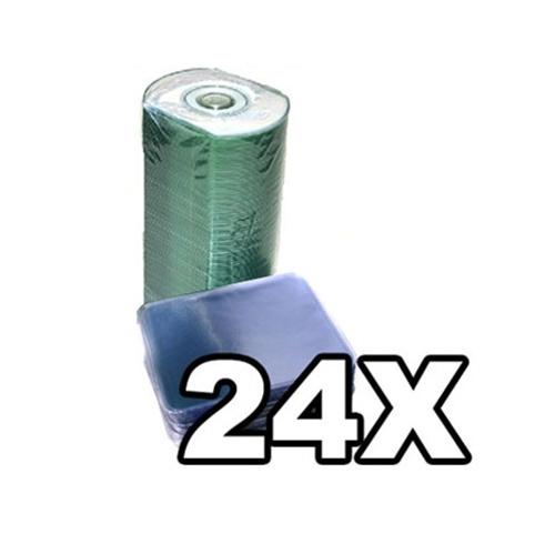 100 Ritek Ridata Business Card 24X CD-R 50MB White Inkjet /w Vinyl Sleeves