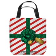 Polar Express Present Tote Bag White 9X9