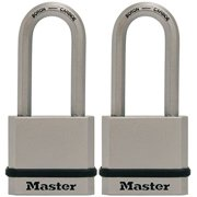 Master Lock M530XTLHCCSEN Padlock, Magnum Solid Steel Lock, 1-3/4 in. Wide, M530XTLH (Pack of 2-Keyed Alike)