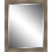 Ashton Wall D cor LLC Scrapped Wood Framed Beveled Plate Glass Mirror