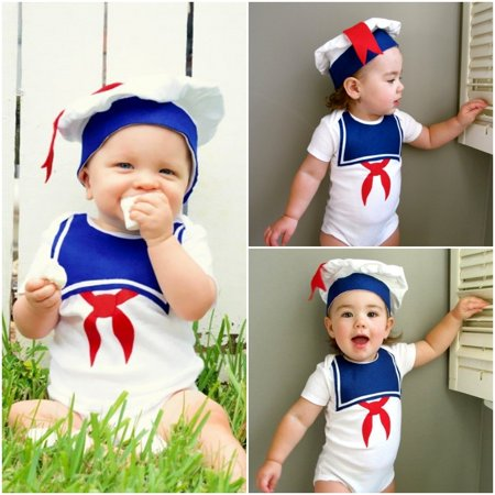2PCS Adorable Newborn Baby Boys Girls Navy Short Sleeve Cotton Romper Bodysuit Jumpsuit with Hat Clothes Outfits