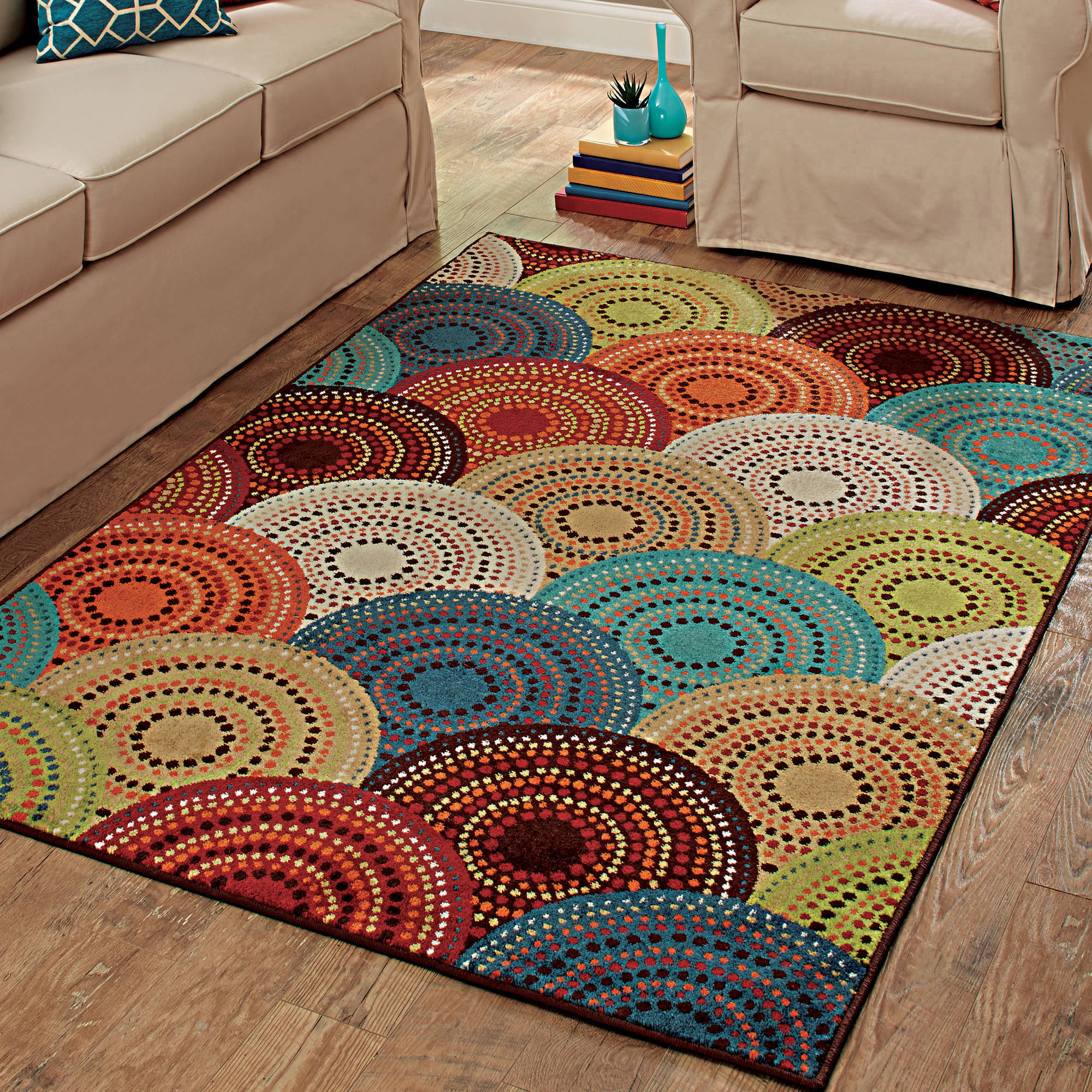 Better Homes and Gardens Bright Dotted Circles Area Rug and Runner