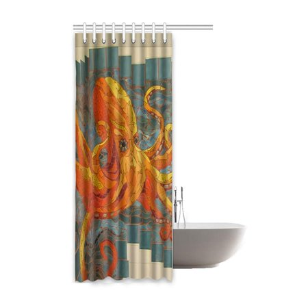 RYLABLUE Octopus Waterproof Polyester Bathroom Shower Curtain 48x72 Inches - image 1 de 2