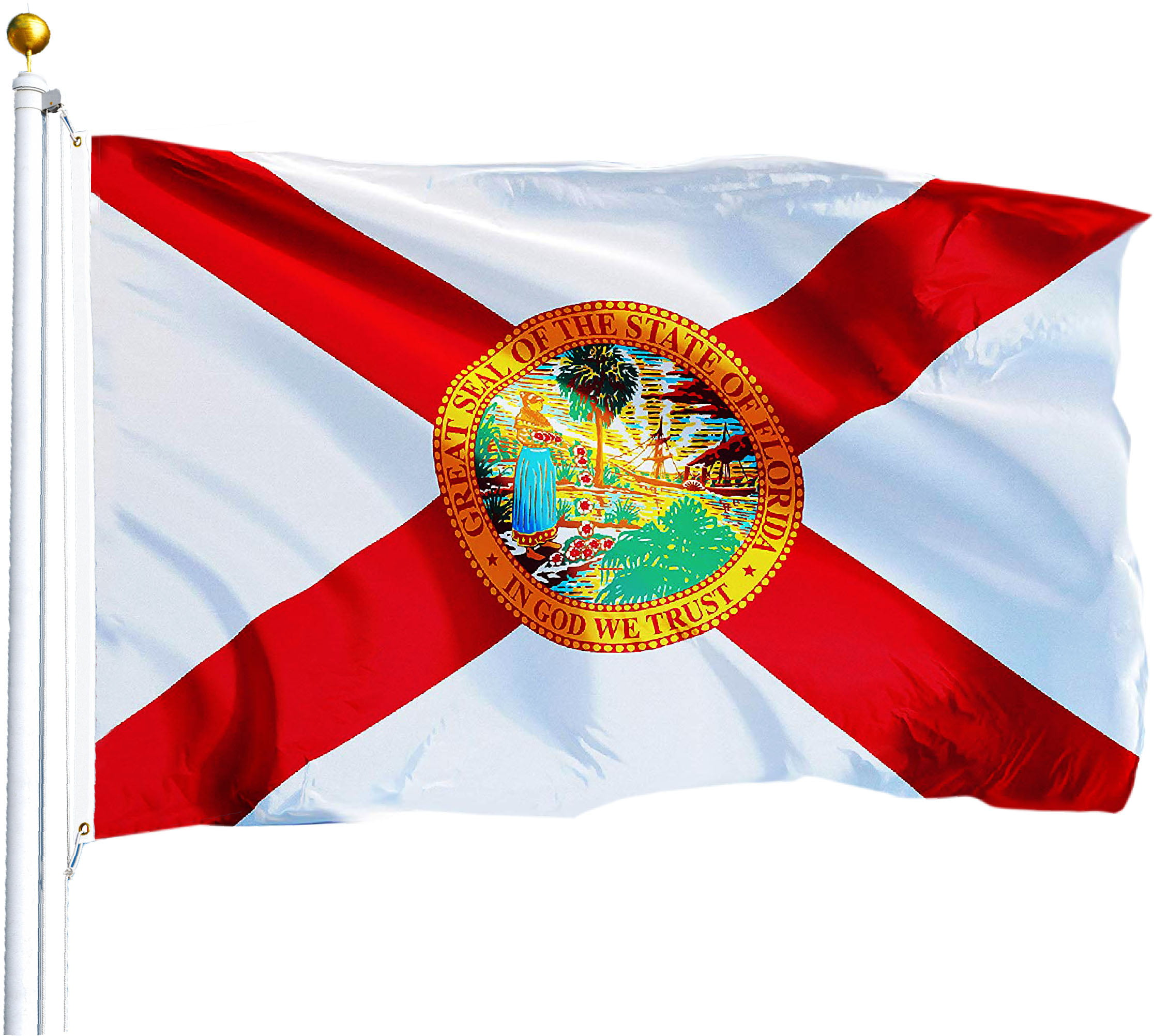 G128 3x5 Florida State Flag Fl Flags Us States New Usa Us Seller Walmart Com Walmart Com
