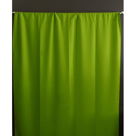 Solid Poplin Window Curtain or Photography Backdrop Lime Green