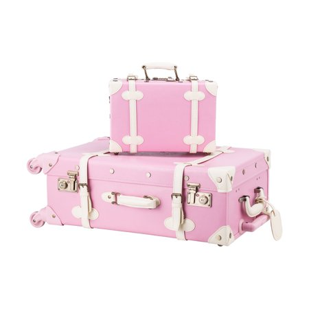 Premium PU Vintage Style Suitcase Set Luggage Bag w/ TSA Locks