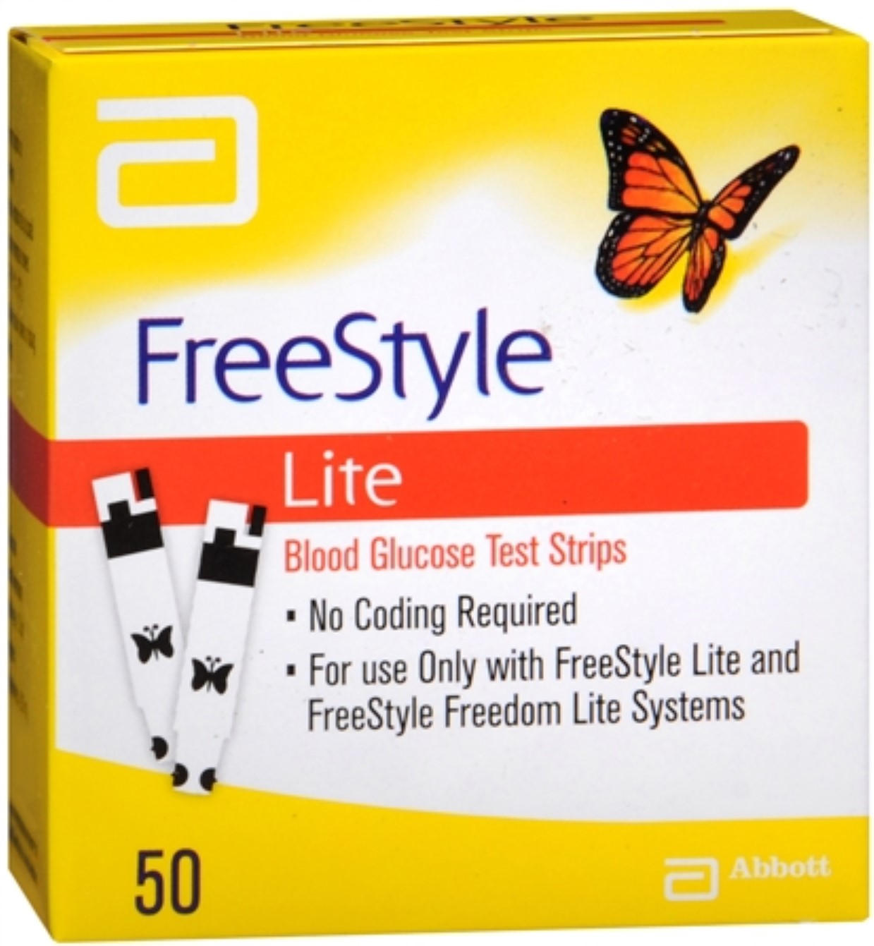 FreeStyle Lite Blood Glucose Test Strips 50 Each (Pack of 2)