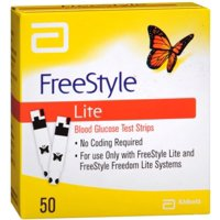 FreeStyle Lite Blood Glucose Test Strips 50 Each (Pack of 3)