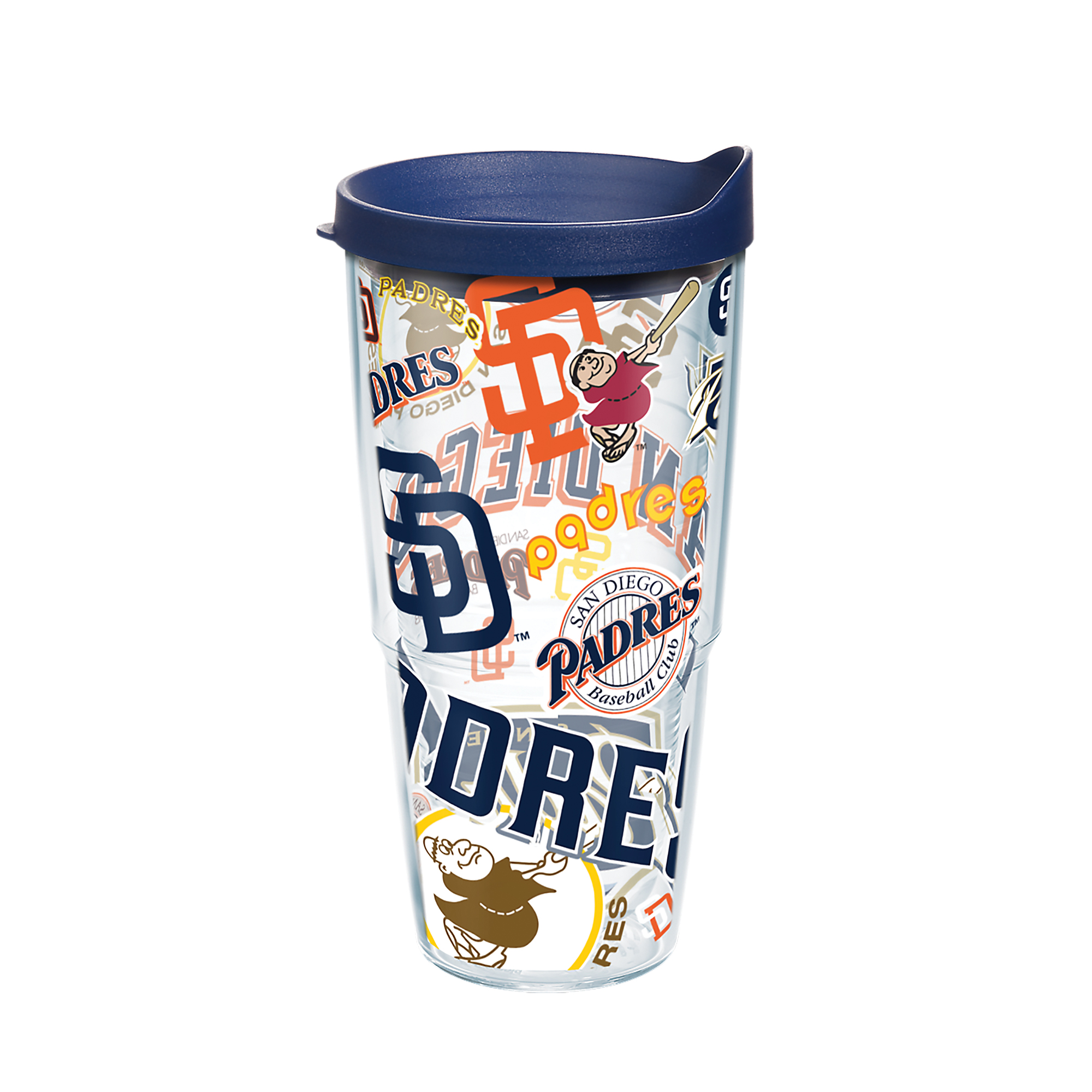 MLB San Diego Padres All Over 24 oz Tumbler with lid
