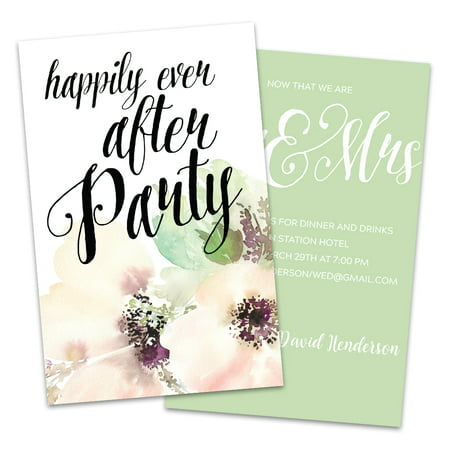 Water Color Flower Personalized Wedding Reception
