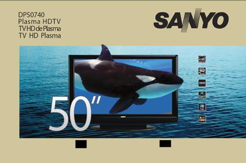 "SANYO 50"" Class Plasma 720p 600Hz HDTV, DP50740"