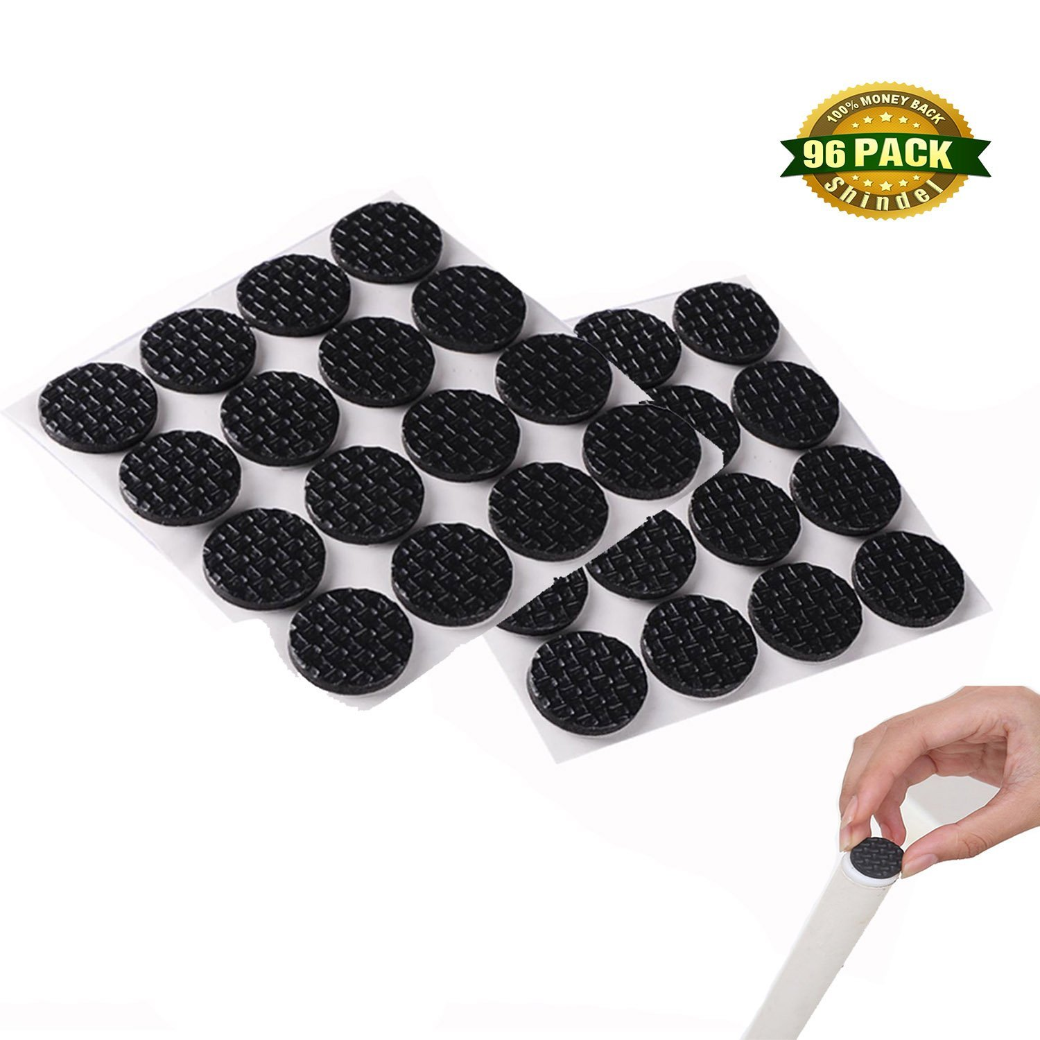 Beau Shindel 96 PCS Furniture And Floor Protectors Furniture Stoppers Rubber  Foam Pad Protector Grip Legs On