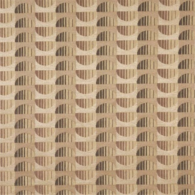 Designer Fabrics F522 54 in. Wide Beige, And Brown, Half Circles Chenille Upholstery Fabric