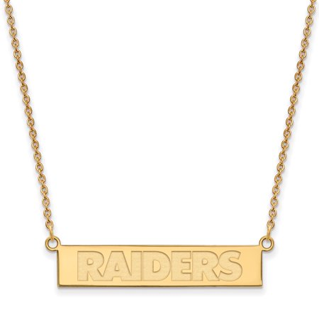 Oakland Raiders Gold-Plated Bar Necklace - No Size (Raiders Necklace)