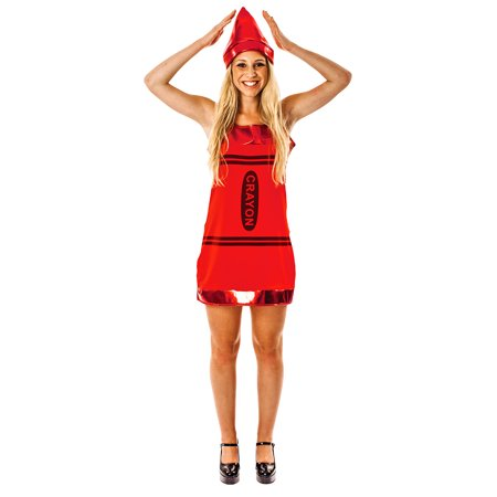 Crayon Halloween Costume Pattern (Women's Red Crayon Costume)
