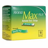 Nova Max Plus Blood Ketone Test Strips Box of 10