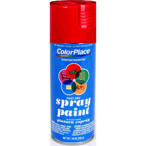 ColorPlace Gloss Spray Paint, Fire Red