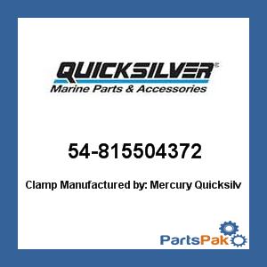New Mercury Mercruiser Quicksilver OEM Part # 54-815504372 CLAMP