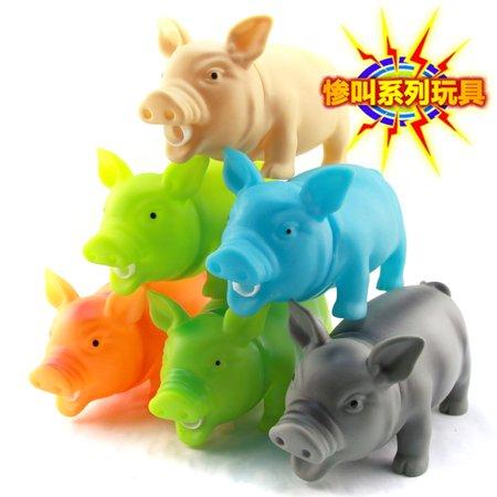 DSstyles Plastic Pig Toy Scream Pig Squeeze Squawking Vent