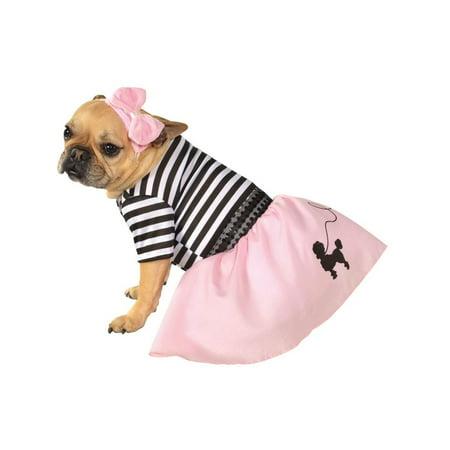 Halloween 50's Girl Pink Pet (50's T-bird Dog Costume)