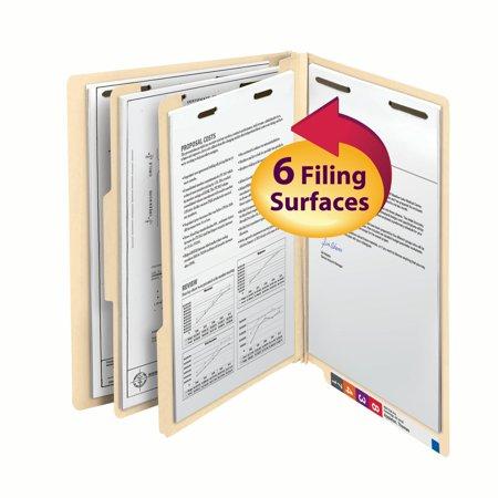 - Smead End Tab Classification File Folder, 2 Divider, 2