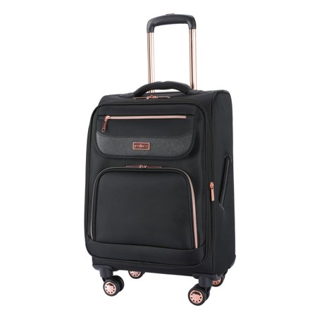 "Sophistique by TPRC 20"" Rolling Expandable Upright – Black w/ Rose"