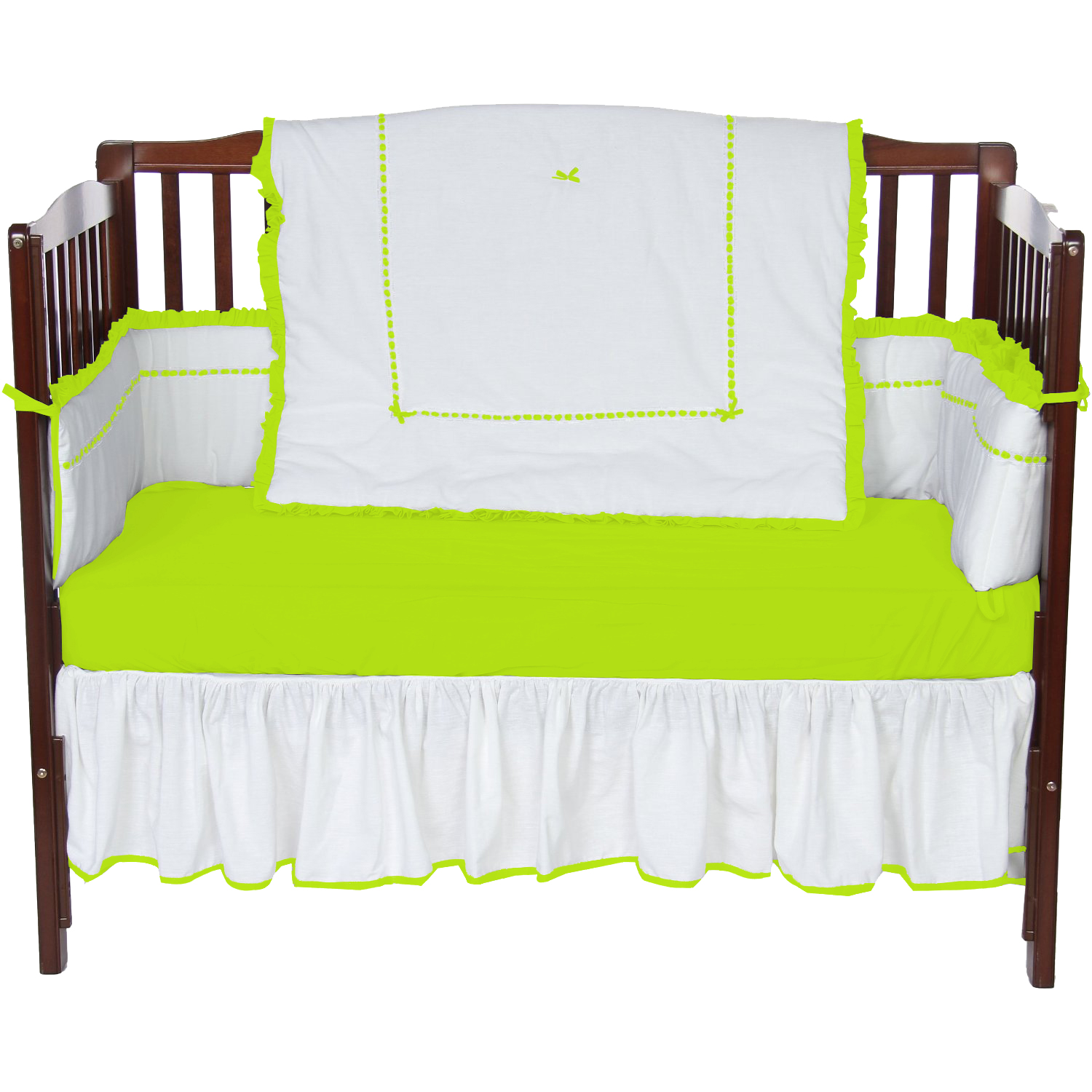 Baby Doll Bedding Unique 4 Piece Crib Bedding Set in Green Apple by Baby Doll Bedding